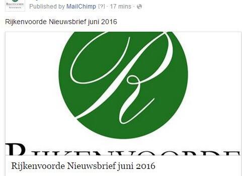 Nieuwsletter juni 2016